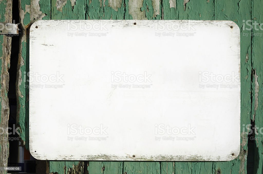 Old and grunge white background sign stock photo