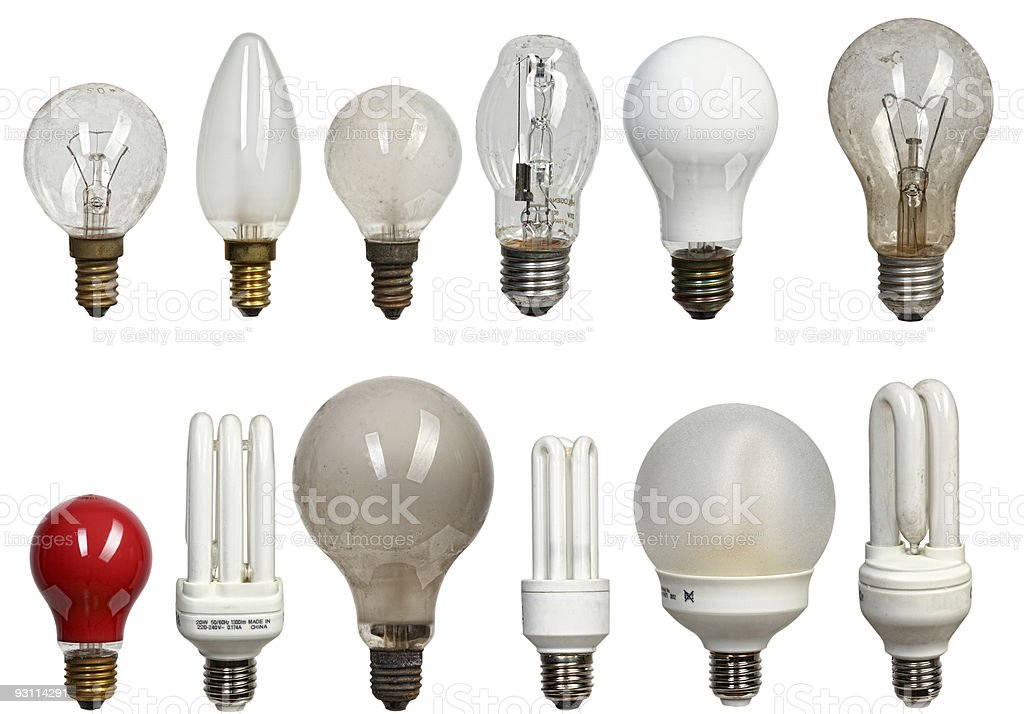 old and modern bulbs royalty-free stock photo