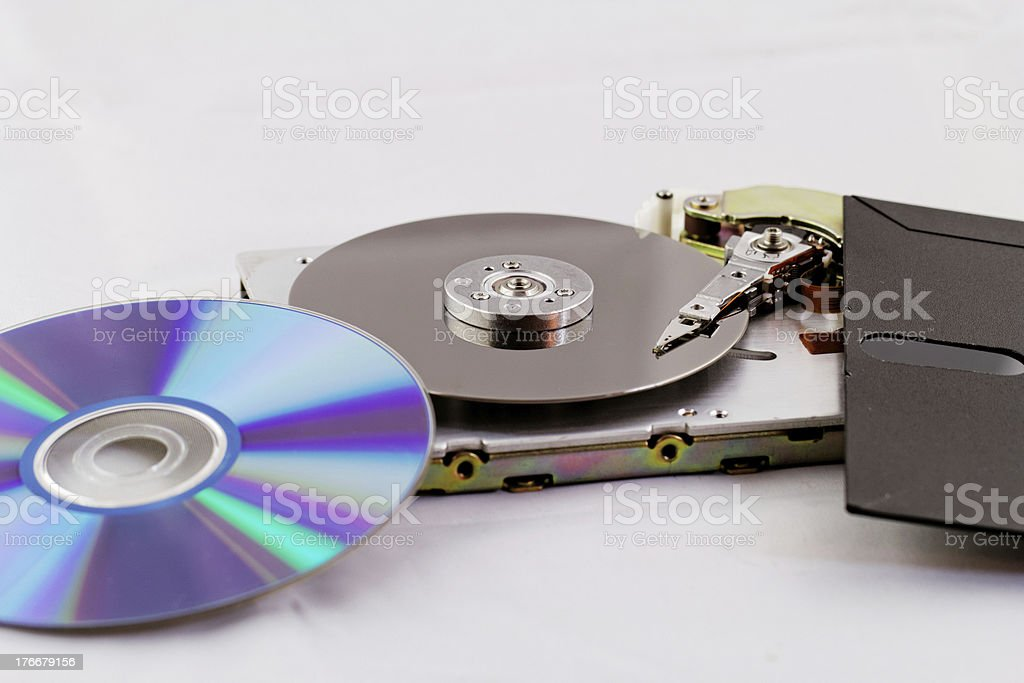 old and modern technics royalty-free stock photo