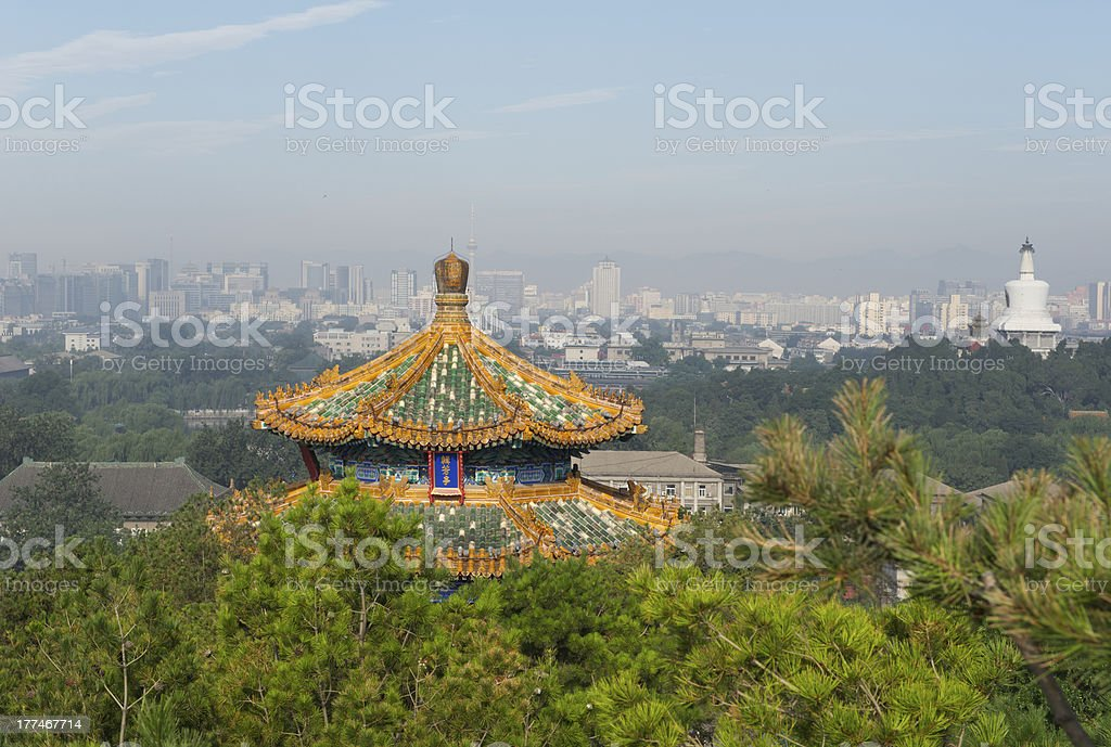 Old and new architecture in Beijing, a city of contrasts stock photo