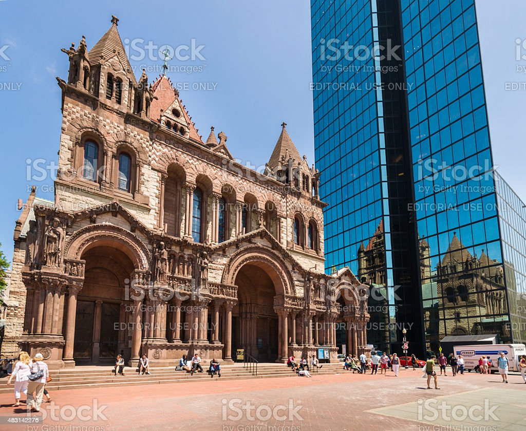 Old And New Architecture Trinity Church In Boston Massachusetts Stock Photo Download Image Now Istock