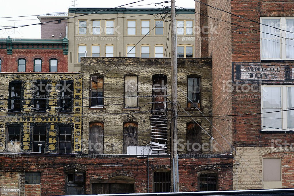 Old and New Buildings stock photo