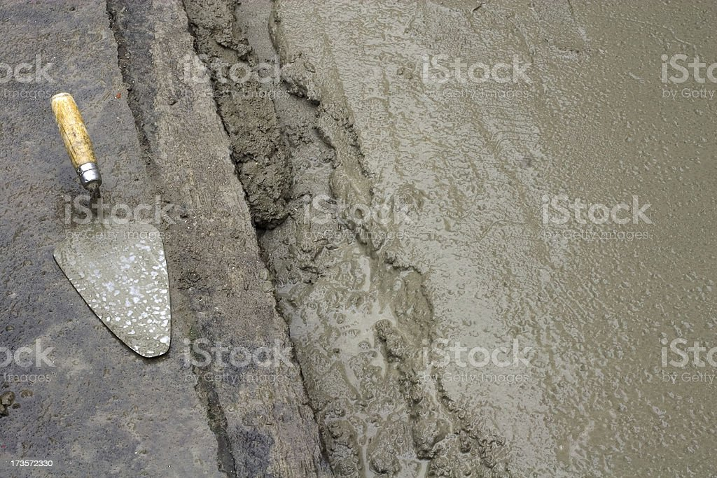 old and new concret royalty-free stock photo