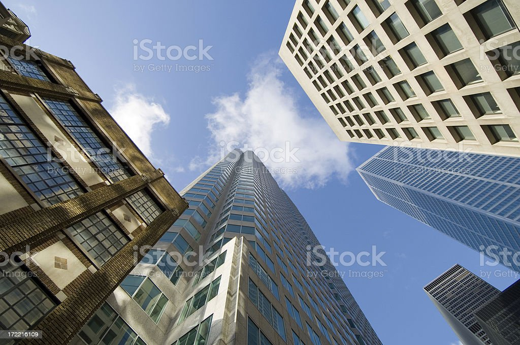Old and new highrise royalty-free stock photo