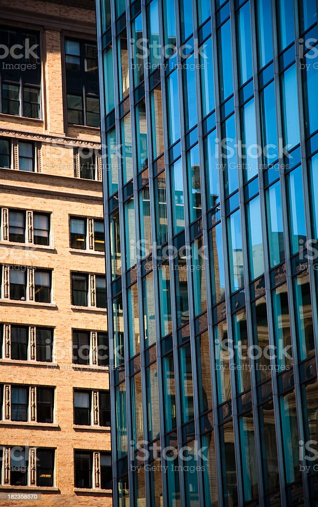 Old and New in Downtown stock photo