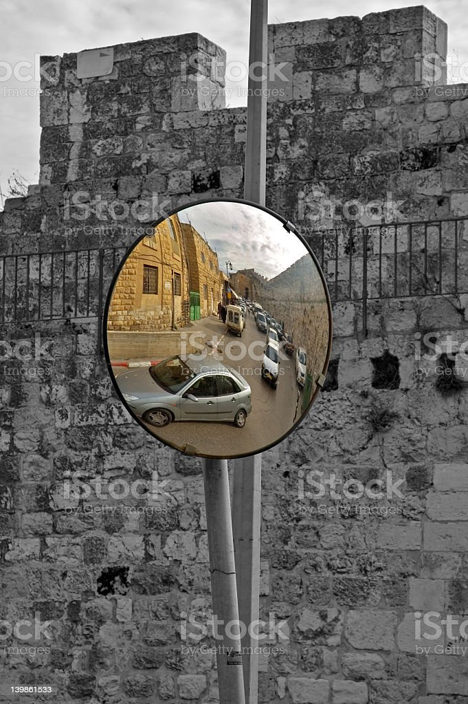 Old and new in Jerusalem royalty-free stock photo