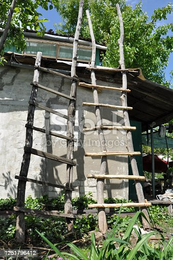 istock old and new ladders at barn 1251796412