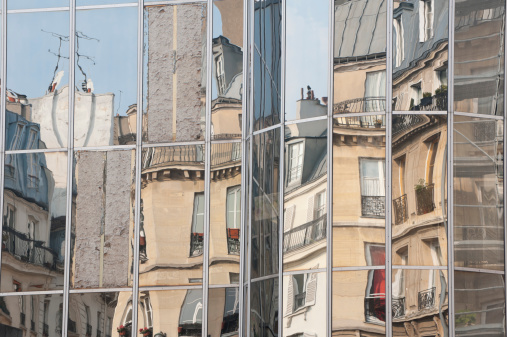 old and new - modern reflection of 19th century architecture