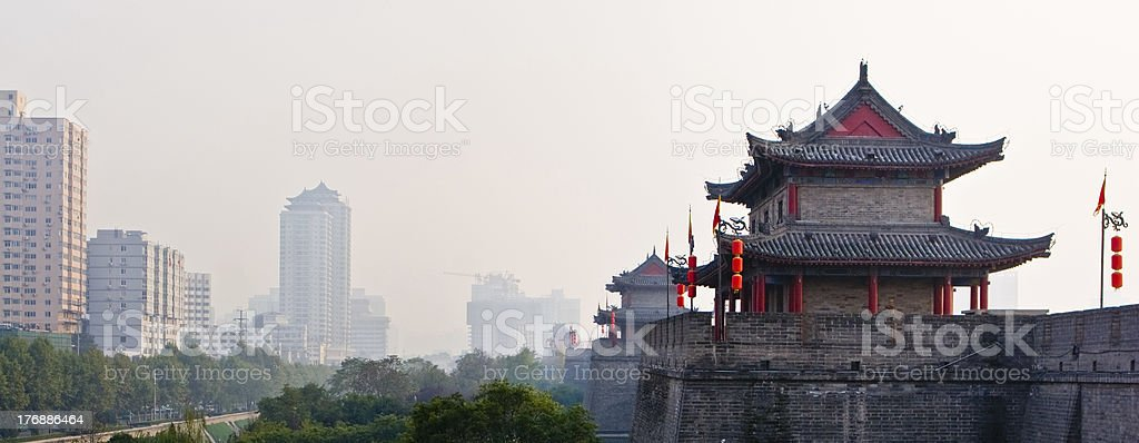 Old and New Xian royalty-free stock photo