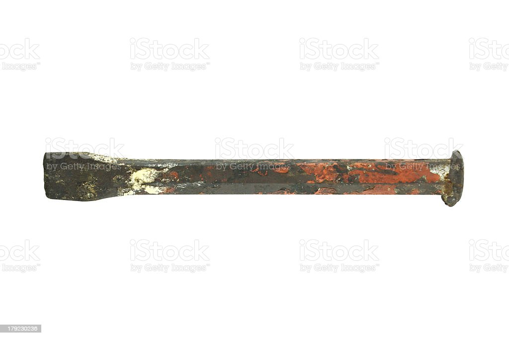 Old and rusty chisel royalty-free stock photo