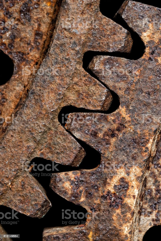 Old and rusty cogwheels royalty-free stock photo