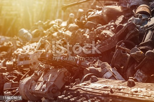 Old and rusty iron scrap