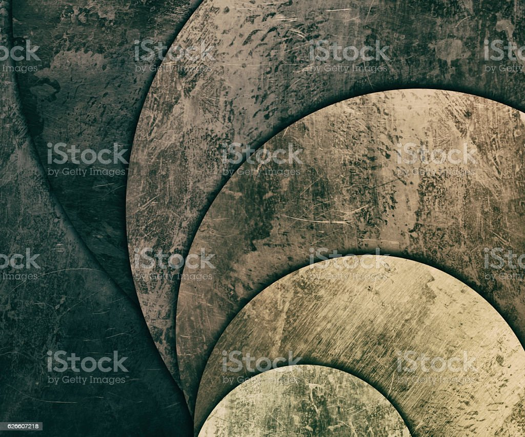 old and rusty metal plates background vector art illustration