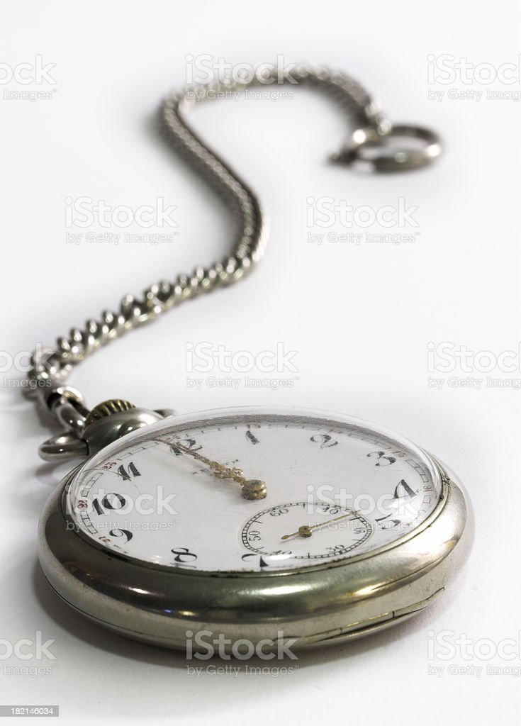 Old and scratchy clock stock photo