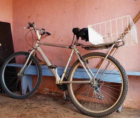Old and used bicycle