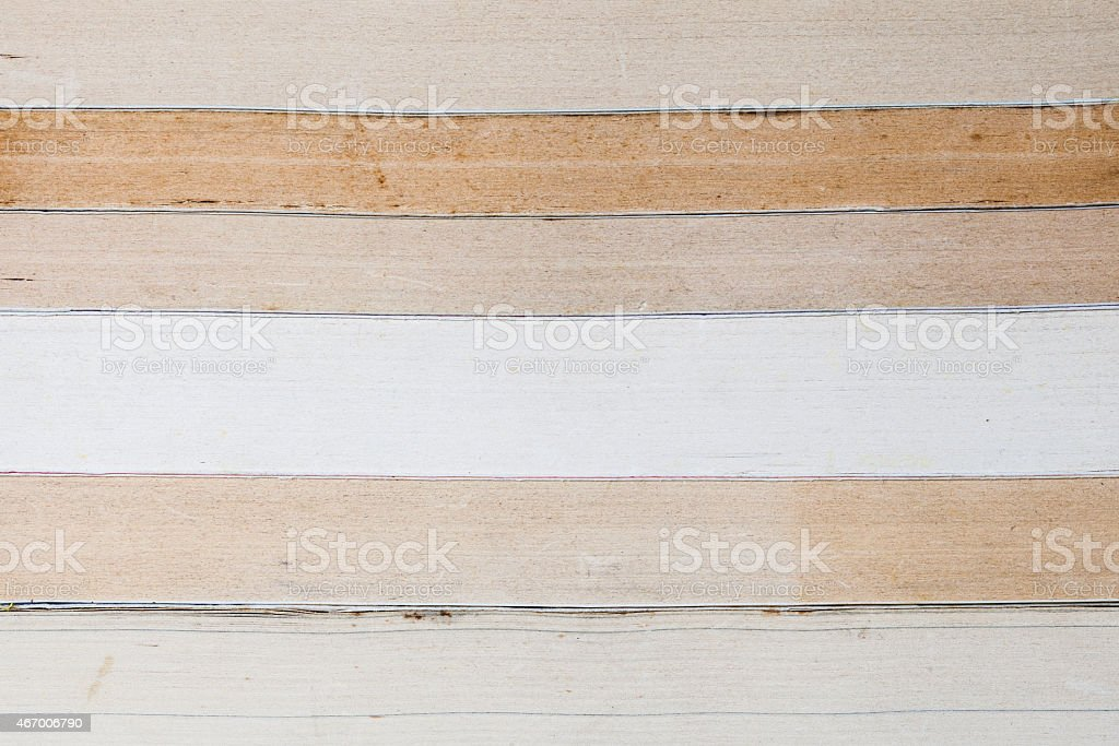 Old and used books or text books seen from above. stock photo