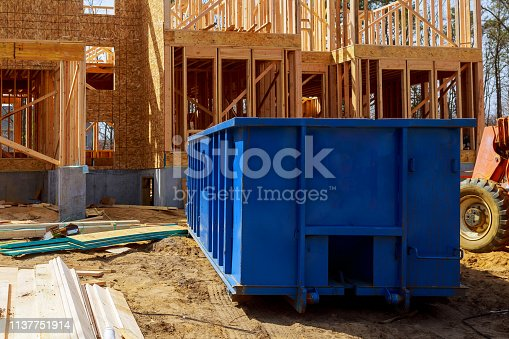 istock Old and used construction material in the new building construction work site. 1137751914