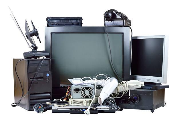 alte und gebrauchte electric hause war. - freizeitelektronik stock-fotos und bilder