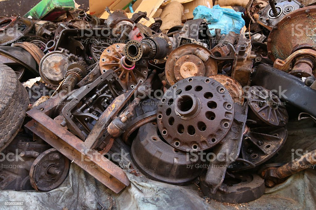 Old And Used Machinery Parts Stock Photo & More Pictures of