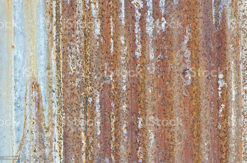 Old and very rusty wall royalty-free stock photo
