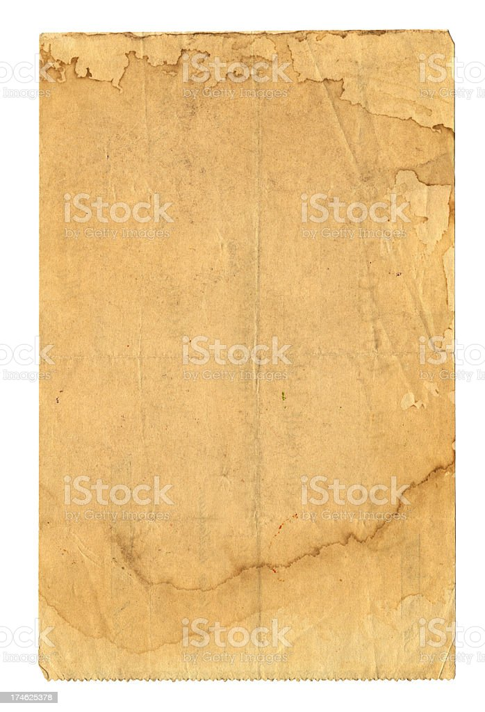 Old and worn paper royalty-free stock photo