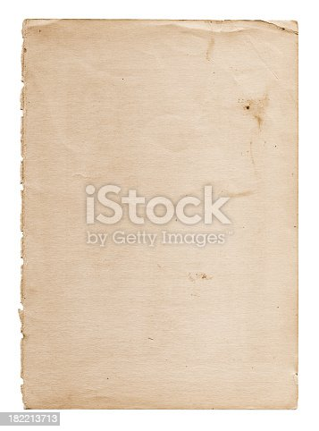 This high resolution worn paper stock photo is ideal for backgrounds, textures, prints, websites and any other distressed grunge style art image uses!