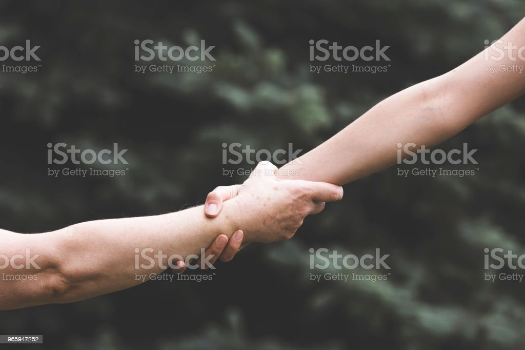 Old and Young hands - Royalty-free 60-69 Years Stock Photo