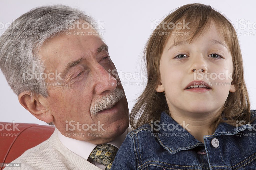 Old and young royalty-free stock photo