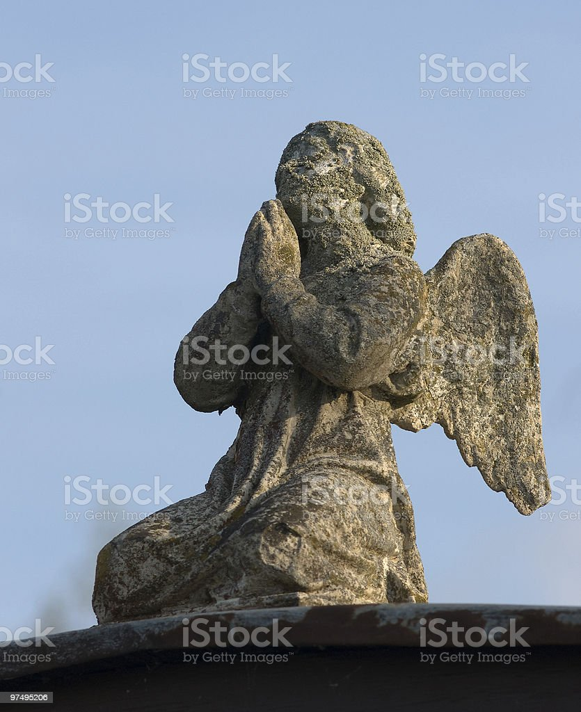 old angel statue royalty-free stock photo