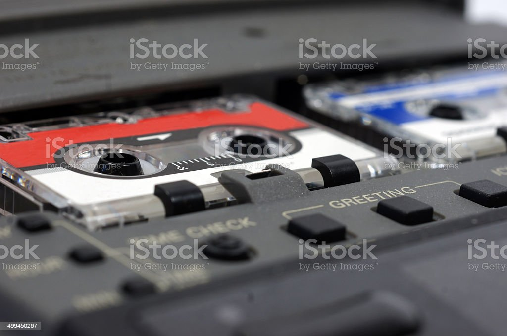 Old answering machine stock photo