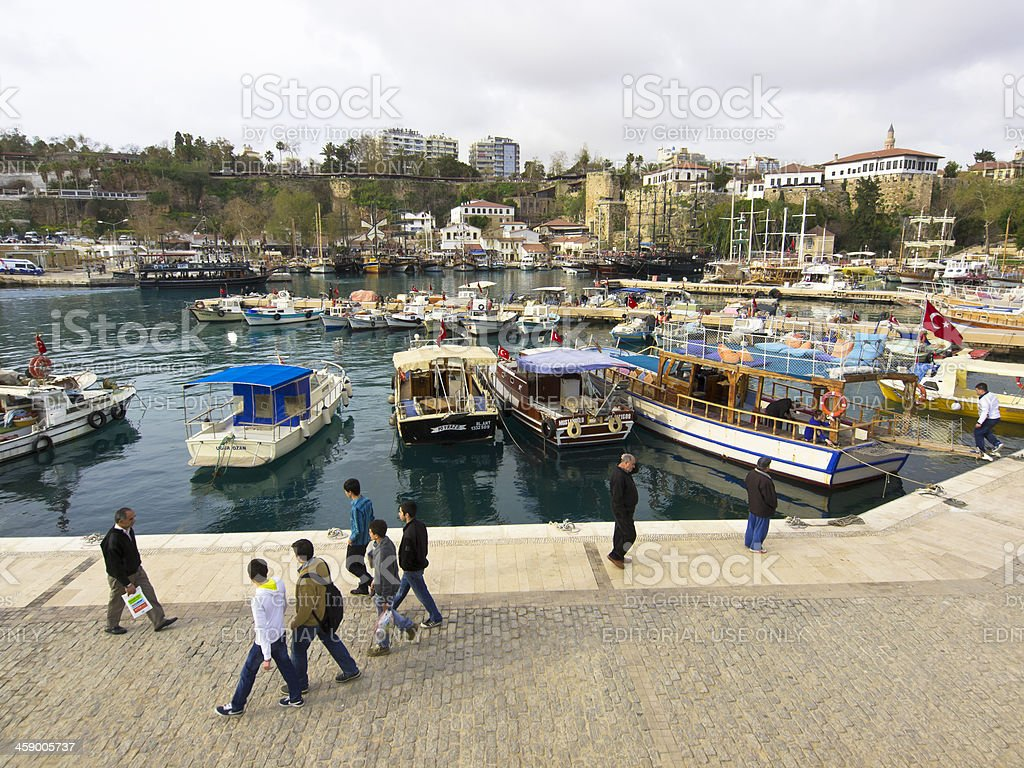 Old Antalya port royalty-free stock photo