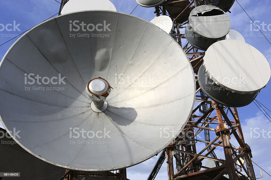 Old antenna royalty-free stock photo