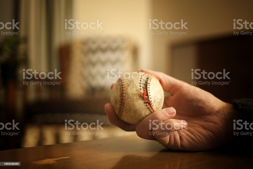 Old, Antique Baseball, Retro Scene Series royalty-free stock photo