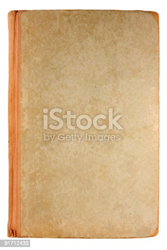 istock Old Antique book isolated on white. 91712433
