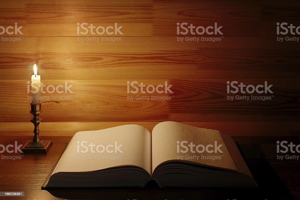 old antique book opened royalty-free stock photo
