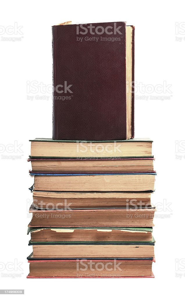 Old Antique Books royalty-free stock photo