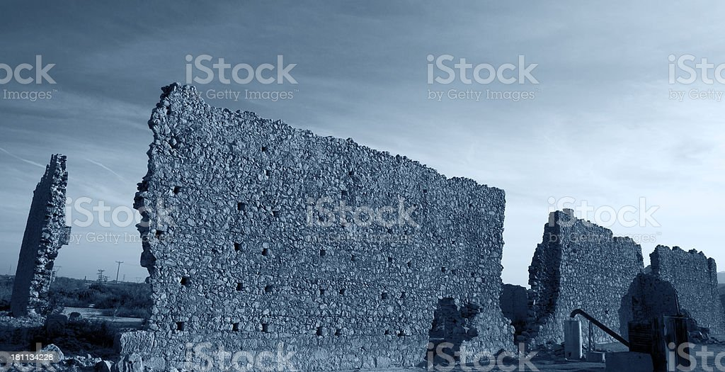 Old antique building wall royalty-free stock photo