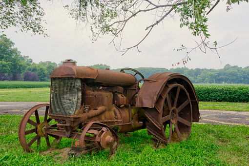 Old Antique Farm Tractor-Southern Indiana