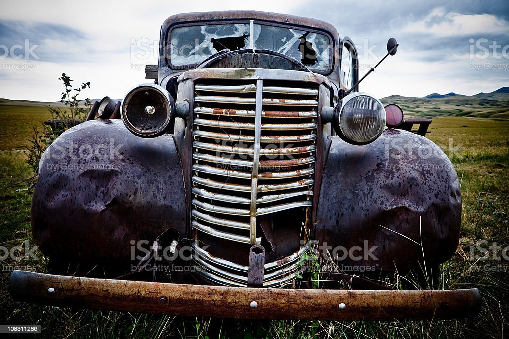 Old Antique Rusty Truck royalty-free stock photo