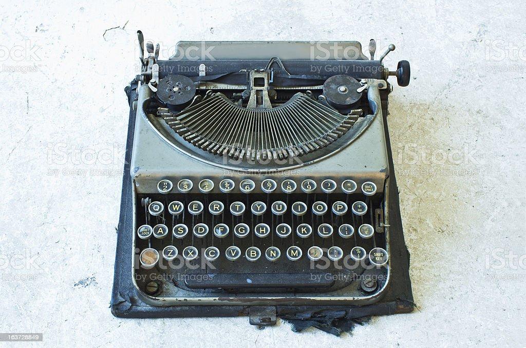 Old Antique typewriter royalty-free stock photo