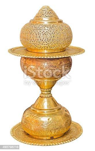 686515422istockphoto Old antique vintage brass vase 493768216