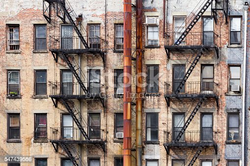 istock Old Apartment Buildings in New York City 547439586