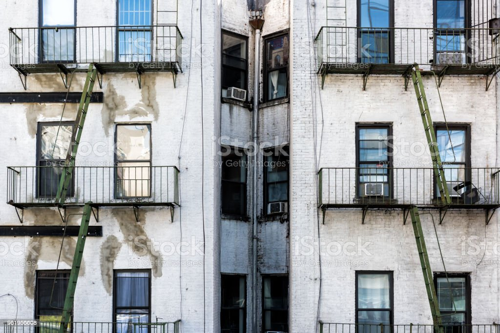 Old Apartment Condo Building Exterior Architecture In Chelsea Nyc