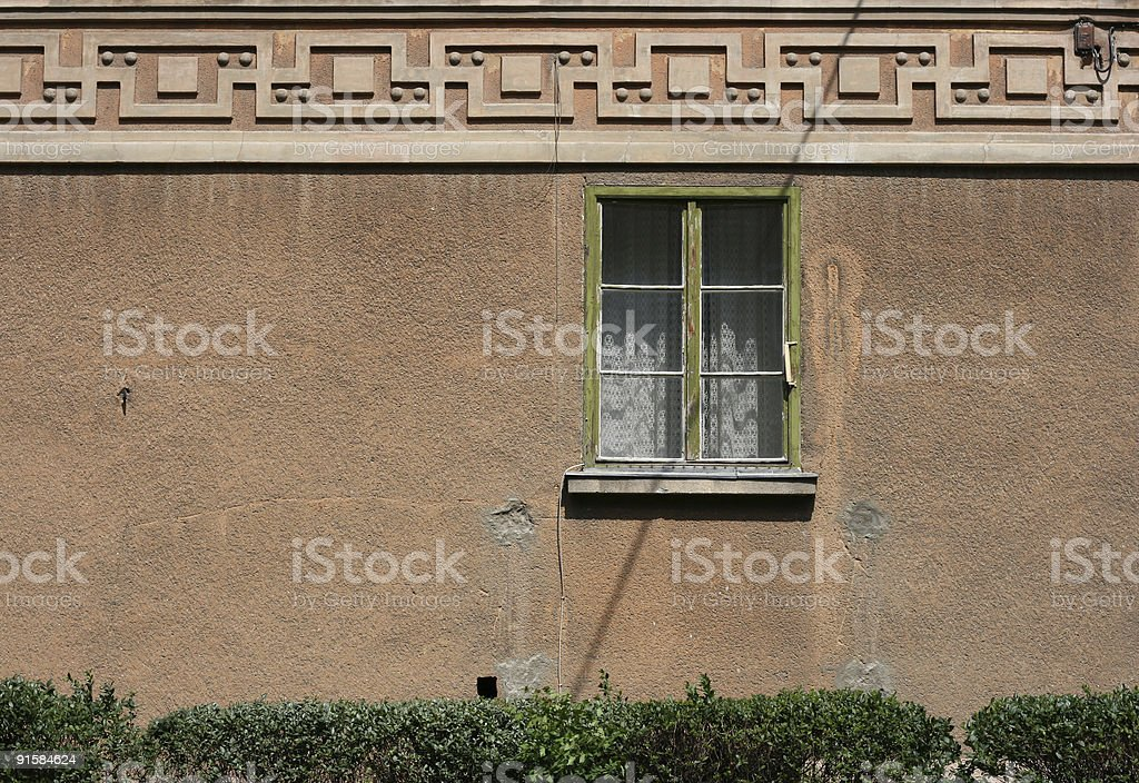 Old Apartment Exterior stock photo