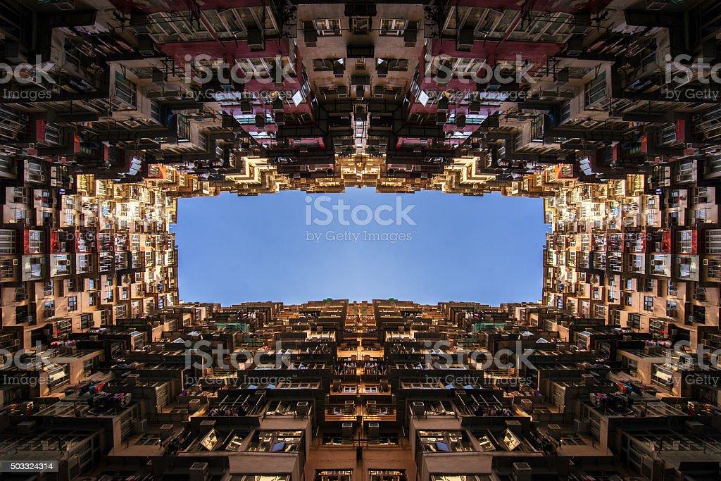 Old apartment in Hong Kong stock photo