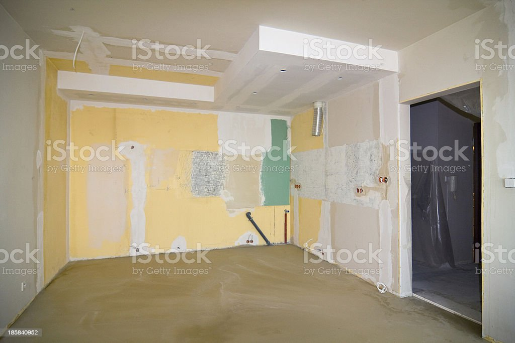 old apartment needs renovation stock photo