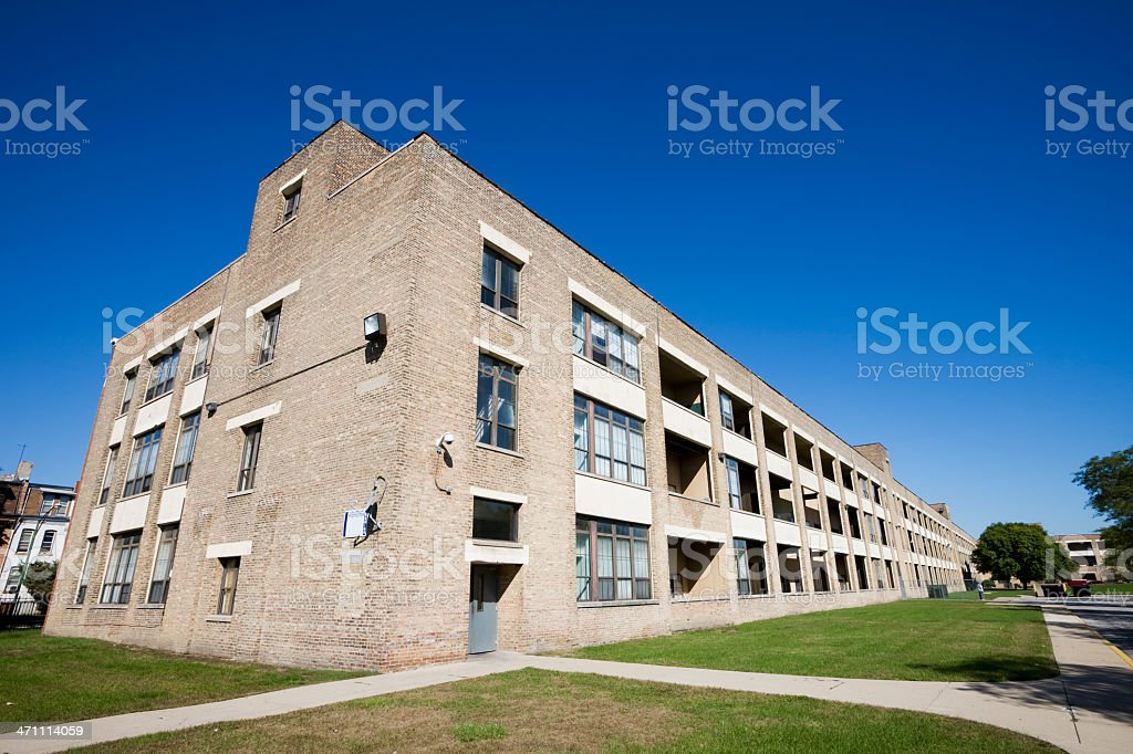 Old Apartments in Pullman, Chicago royalty-free stock photo