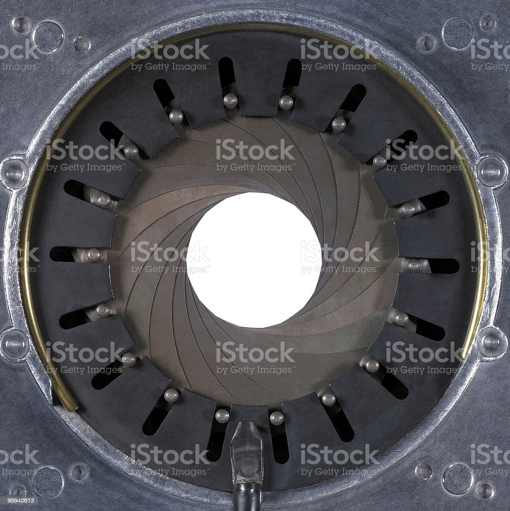 old aperture closeup stock photo
