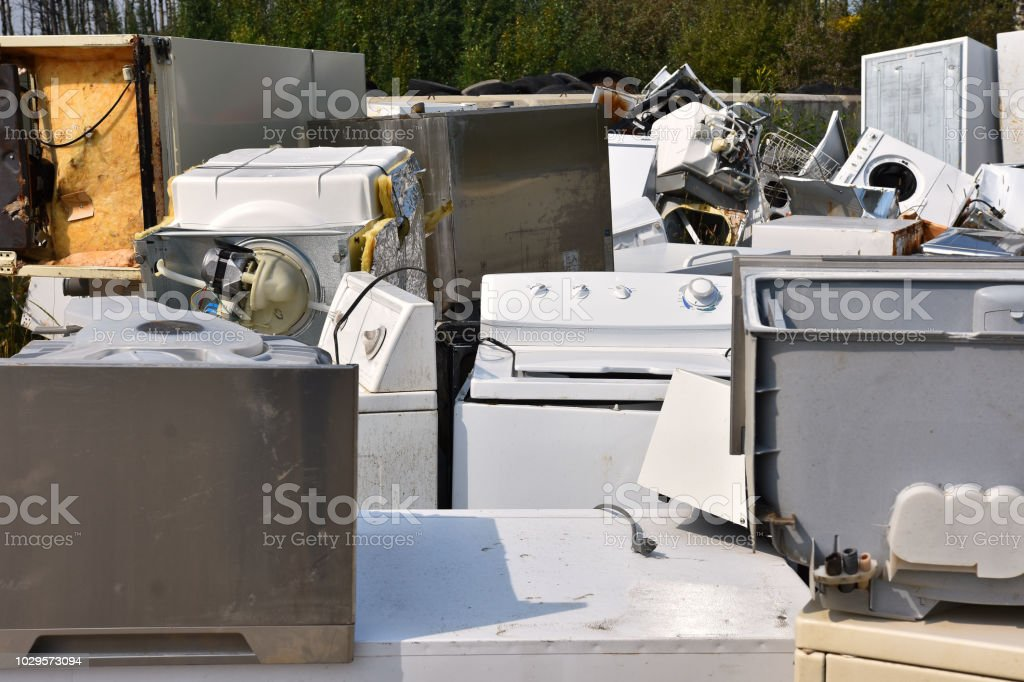 Old Appliance Recycling stock photo