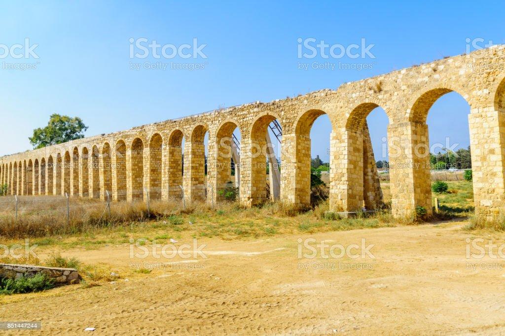Antigo aqueduto do Acre (Akko) - foto de acervo